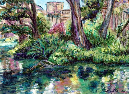 Palace of Fine Arts - Serenity (Painting) San Francisco