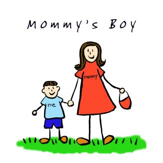 Mommy's Boy Illustration (Brunette)