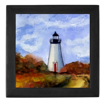 Edgartown Lighthouse Tile Box