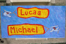 Lucas Michael Name Painting - Airplanes
