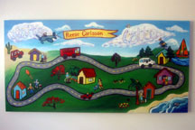 Reese Carlsson Name Painting - Racetrack